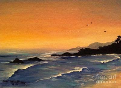 Laguna Sunset Art Print by Barbara Gilroy