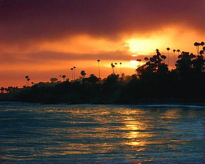 Photograph - Laguna Sunset by Timothy Bulone