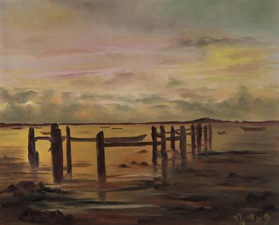 Quietness Painting - Laguna Susurrante by Jaime Rodriguez-raigoza