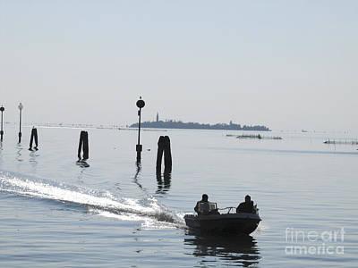 Venise Photograph - Lagune De Venise by Bernard Jaubert