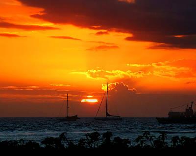 Photograph - Lahania Harbor 1 by Ken Smith
