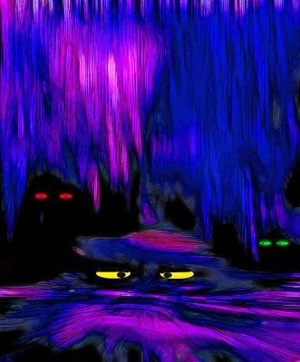 Creepy Mixed Media - Lair 1 - Pop Art by Steve Ohlsen