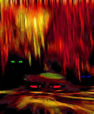 Creepy Mixed Media - Lair 2 - Pop Art by Steve Ohlsen