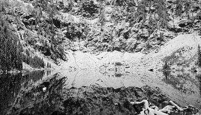 Forest Photograph - Lake 22 Reflection In Winter by Twenty Two North Photography