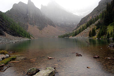 Photograph - Lake Agnes by Harvey Barrison