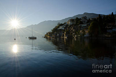 Lake And Sunlight Art Print by Mats Silvan