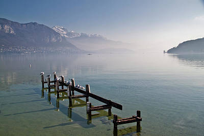 Of Birds Photograph - Lake Annecy (lac D'annecy) by Harri's Photography