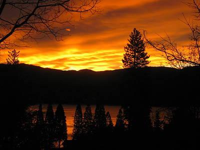Lake Arrowhead Sunrise Art Print by Diana Poe