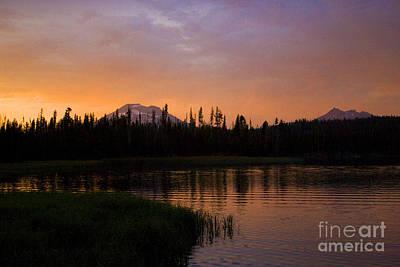 Photograph - Lake At Sunset by Denise Oldridge