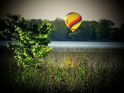 Lake Balloon Art Print by Michael L Kimble
