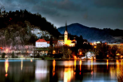 Photograph - Lake Bled. Church. Slovenia by Juan Carlos Ferro Duque