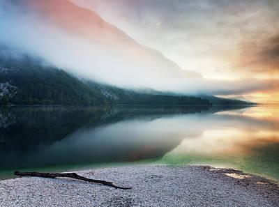 Lake Bohinj Art Print by John and Tina Reid