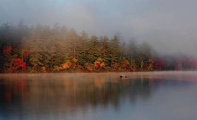 Art Print featuring the photograph Lake Chocorua Sunrise by Nancy De Flon