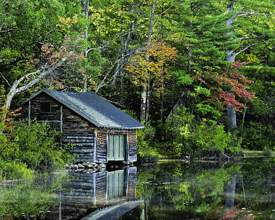 Art Print featuring the photograph Lake Chocoura Boathouse by Betty Denise