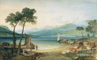 Geneva Painting - Lake Geneva And Mont Blanc by Joseph Mallord William Turner