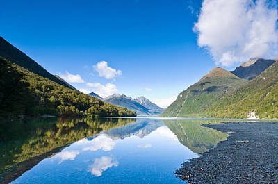 American Milestones - Lake Gunn south island of New Zealand by U Schade