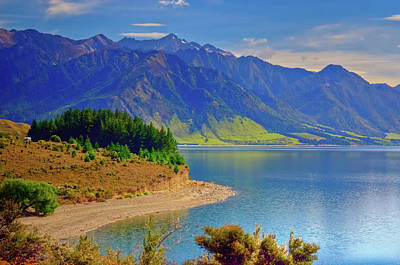 Photograph - Lake Hawea And The Young Range by Harry Strharsky