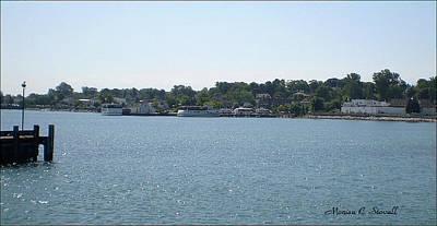 Lake Huron Shoreline Collection - St. Ignace Mi Harbor Art Print
