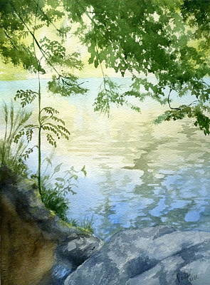 Painting - Lake Impression 2 by Eleonora Perlic