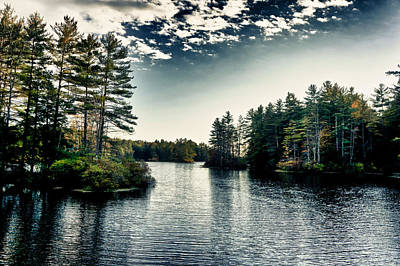 Photograph - Lake In New Hampshire by Edward Myers