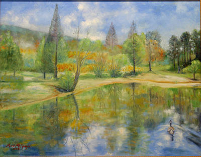 Painting - Lake In Springtime. by Max Mckenzie