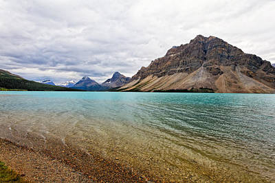 Lake In The Canadian Rockies Art Print by George Oze