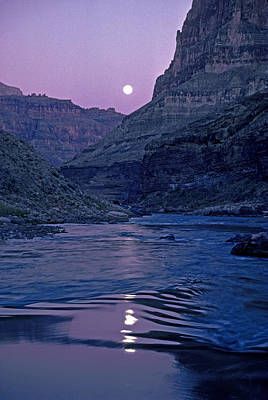 Moonlit Night Photograph - Lake Light On Colorado River,grand by David Edwards