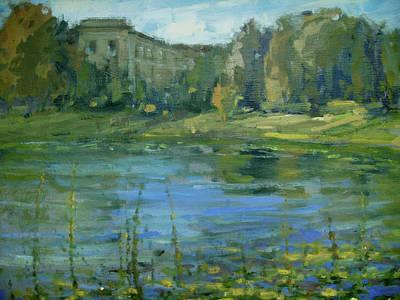 Painting - Lake Lilies Lillies by Berto Ortega