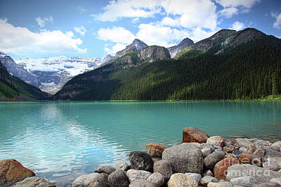 Photograph - Lake Louise Located In The Banff National Park by Sandra Cunningham