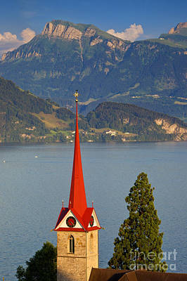 Lake Lucerne Art Print by Brian Jannsen