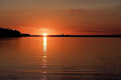 Art Print featuring the photograph Lake Manitoba Sunset by Scott Holmes