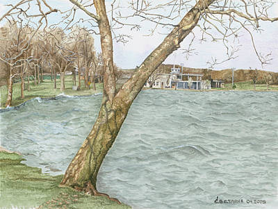 Painting - Lake Maxinkuckee Shoreline by Svetlana  Jenkins
