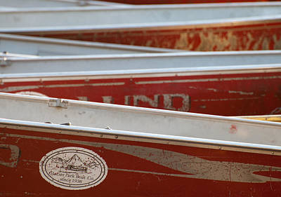 Photograph - Lake Mcdonald Canoes by Bruce Gourley