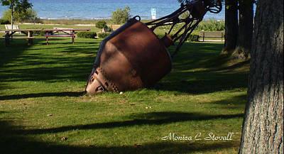 Lake Mi Park - Mackinaw City M Collectionsi   Art Print
