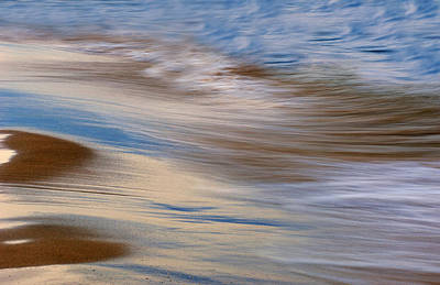 Abstract Beach Landscape Photograph - Lake Michigan Surf by Dean Pennala