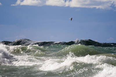 Beach Photograph - Lake Michigan Waves by Christopher Purcell