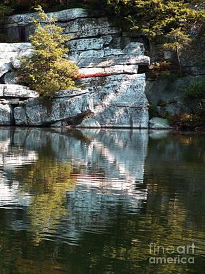 Photograph - Lake Minnewaska Reflections Photograph by Kristen Fox
