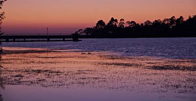 Photograph - Lake Miramar Sunset 3 by Jeremy McKay