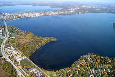 Photograph - M-010 Monona Lake Madison Wisconsin by Bill Lang