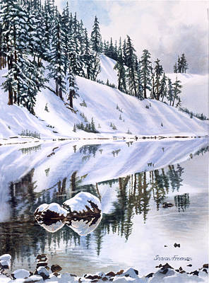 Sisters Painting - Lake Moraine Oregon by Sharon Freeman
