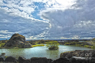 Photograph - Lake Myvatn - Iceland by Gregory Dyer