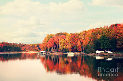 Fall Photograph - Lake Norman North Carolina by Kim Fearheiley