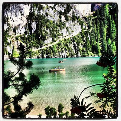 Landscapes Wall Art - Photograph - Lake Of Braies - South Tyrol by Luisa Azzolini