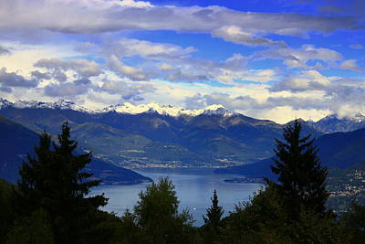 Lake Of Como View Art Print