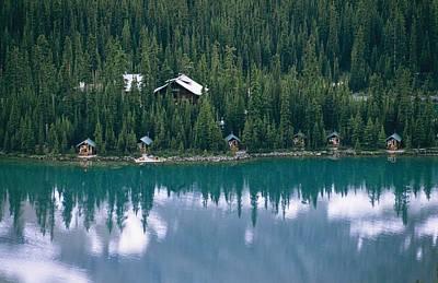 Lake Ohara Lodge And Cabins Art Print by Michael Melford