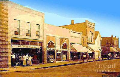 Lake Orion Painting - Lake Orion Mi Vaudeville Theatre 1919 by Dwight Goss