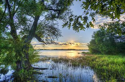 Lake Peewee At Sunset Art Print by Jim Pearson