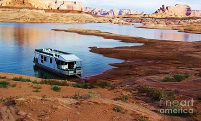 Lake Powell Houseboat Art Print by Michele Penner
