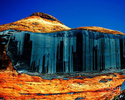 Colorful Canyon Wall Photograph - Lake Powell Stripe by Rebecca Margraf
