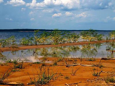 Photograph - Lake Sardis Reflection One by Joshua House